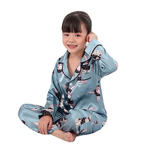Wawer Kleinkind Baby Jungen Langarm Cartoon Bär Tops + Hosen Schlafanzug Nachtwäsche Outfits (12M-5T) Kinder Langarm Cartoon Tier Bärendruck Pyjamas Home Service Set