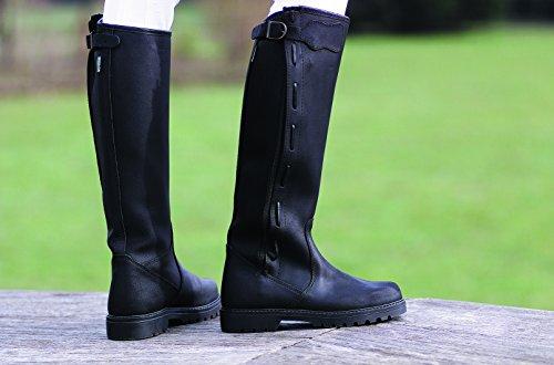 Stiefel Verstellbare Norton Leder–Schwarz Schwarz