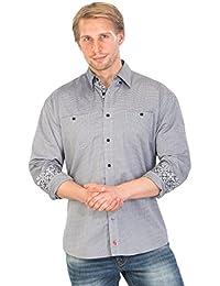 Hommes GARCIAR - Chemises manches longues à manches longues gris par Gear