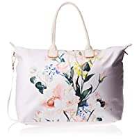 Ted Baker Tote Bag for Women- Floral/White