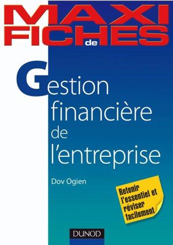 Maxi fiches de Gestion financière de l'entreprise - 2e édition