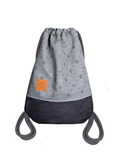 Manufaktur13 Twisted Denim Sports Bag - Jeans Rucksack Gym Bag Turnbeutel Sportbeutel Beutel Tasche M13 -
