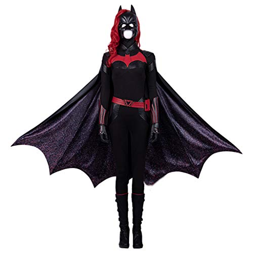 Batwoman Kostüm Cosplay - Cosplay Batwoman Cosplay Kleidung Voll Mit Mantel Cos Kleidung Erwachsene Dress Up Prom Full Set (remarks Shoe Size)-M
