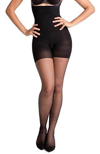 Spanx Luxe Giarrettiera Sheer Leg Shaper collant Black (Spanx Collant)
