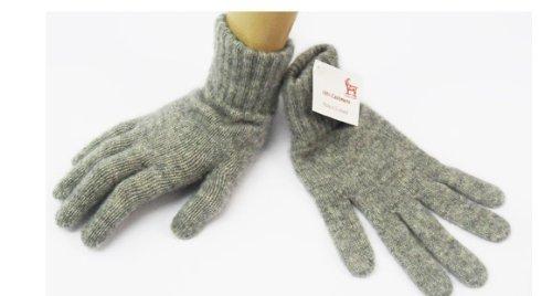 ScotlandShop Damen Kaschmir-Handschuhe aus Schottland Gr. One size, Flannel Grey -
