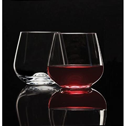 Symphony Stemless Red Wine Glass (Set of 4) by Circle Glass