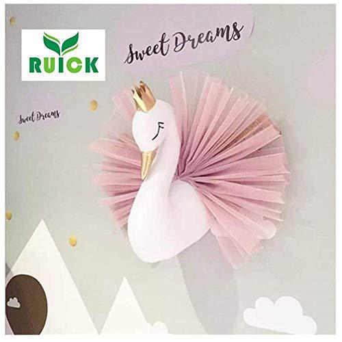 Vestido de gasa con corona de cisne en 3D, para colgar en la pared, para guardería,...