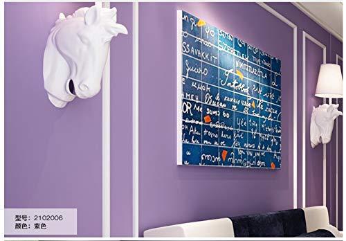 JXArt Vliestapete, Moderne Wanddeko Minimalistisches Design 3D Optik Wandgemälde Vlies-Wand-Tapete für Wohnzimmer Schlafzimmer Wanddeko, 0.53x10m, Modern - Candy Color - Simple Ins, Lila (Lila Schwarz Candy Und)