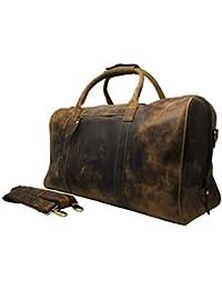 389fe6b71e 50cm Valise Sac de Voyage Fitness Sport Week-end Camping Bag Cuir Cadeau  Occasionnel Vintage