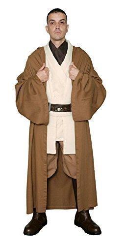 Kostüm Obiwan - Kostüm Star Wars Obi-Wan Kenobi Jediritter Tunika Hellbraun Jedi Umhang - Herren: XL