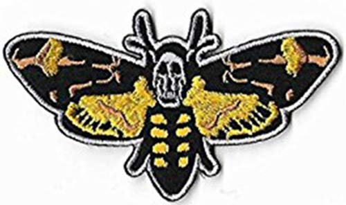 WowPrice99 Death's Head Moth 9cm x 5cm Patch Embroidered Badge Iron Or Sew On (Death Head Patch)