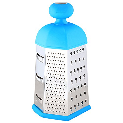 Cookstyle 6-Sided Stainless Steel Universal Kitchen Grater and Slicer, Blue
