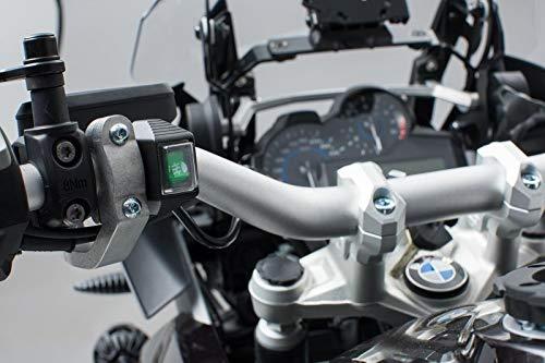 SW Motech EVO fog light switch for cockpit For fog lights. Bright green.   EMA.00.107.12900