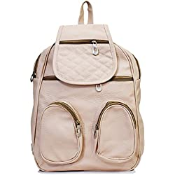 SPLICE Women Kids Backpack Sling Bag Shoulder Chest Bag Pack (Cream)