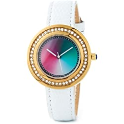 Rainbow e-motion of color Women's Quartz Watch PA48G-WL-ga with Leather Strap