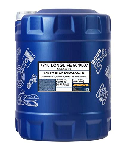 1 x 10 Liter, MANNOL 7715 5W-30 Norm 504.00 507.00 229.51 Longlife C3 DPF