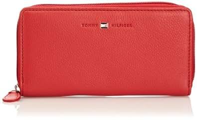 Tommy Hilfiger ALISON LARGE ZIP AROUND WALLET BW56922174, Damen Geldbörsen, Rot (POPPY RED-PT 637), 20x11x2 cm (B x H x T)