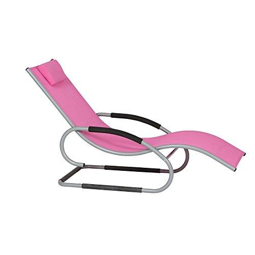 Siena Garden 268137 Swingliege Adria Aluminium-Gestell silber Ranotex-Gewebe 2 * 1 pink Armlehnen...