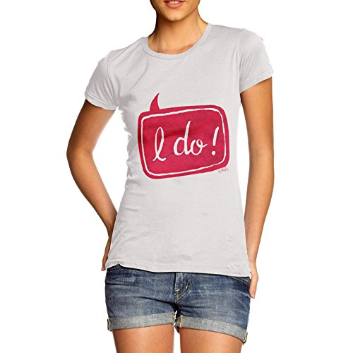 TWISTED ENVY Wedding Women's Funny 100% Cotton T-Shirt, Crew Neck, Comfortable and Soft Classic Tee with Unique Design
