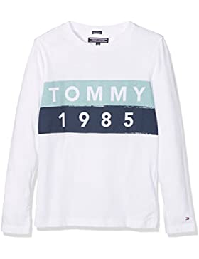 Tommy Hilfiger Ame Multicolor Logo Cn tee L/S, Camisa Manga Larga para Niños