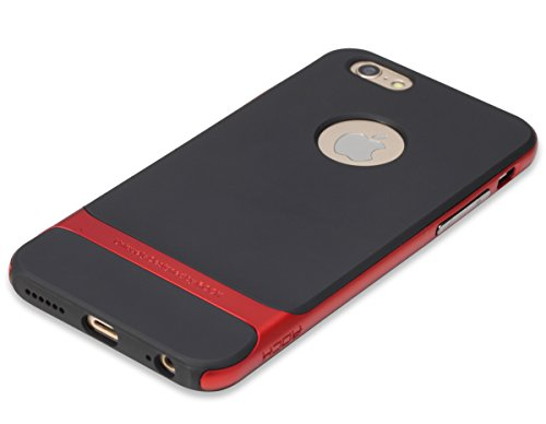 ROCK ''Royce'' iPhone 6S Plus/ iPhone 6 Plus TPU+PC Schutzhülle, Tasche ,Hülle, Handycase für iPhone 6 plus– grau rot