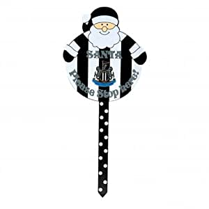 Newcastle United FC. Santa Stop Here Wooden Garden Sign