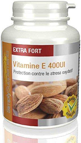Vitamine E 400iu | Aide à maintenir la santé du coeur et des artères | 240 Gélules | Simply Supplements