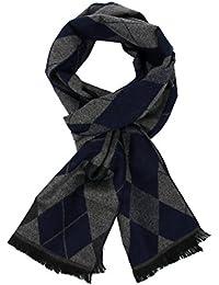 Homme Douce Coton Carreaux Foulard - Chaude Grand Tartan Ecossaise Écharpe  Chale Stole pour Automne et Hiver avec… 097197c18c8