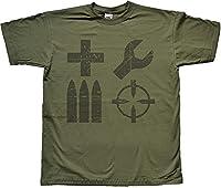 Distressed Soldier Classes Gamer Green T Shirt Medium