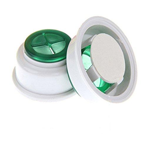Soporte para toalla de mano(2 Pcs),Push-type Plástico Ronda sin taladrar, autoadhesivo,Para la cocina/baño/sala de estar(toallas/toallitas/toallas de mano),Blanco + verde.