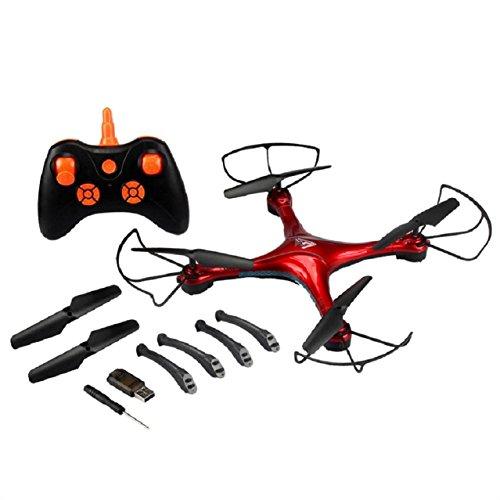 Preisvergleich Produktbild OverDose 2,4 GHz 4-Kanal 6 Achsen Gyro RC One Key Return RC Quadcopter Flugzeug Drone + Remote (Orange)