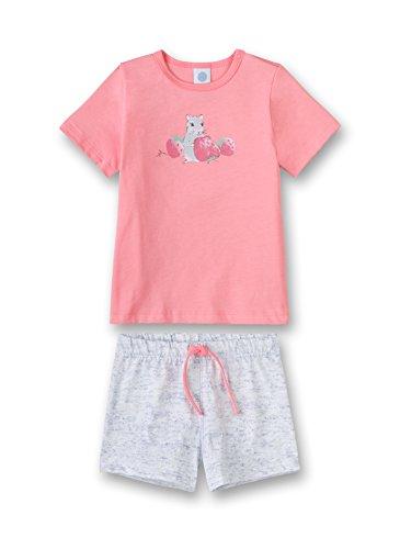 Sanetta Baby-Mädchen Zweiteiliger Schlafanzug Pyjama Short, Rot (Coral Light 3937.0), 98