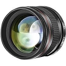 Neewer 85mm f/1,8 Téléobjectif Multicouche Verre HD Asphérique de Portrait pour Canon EOS 80D 70D 60D 60Da 50D 7D 6D 5D 5DS 1Ds Rebel T6s T6i T6 T5i T5 T4i T3i T3 T2i et SL1 DSLR
