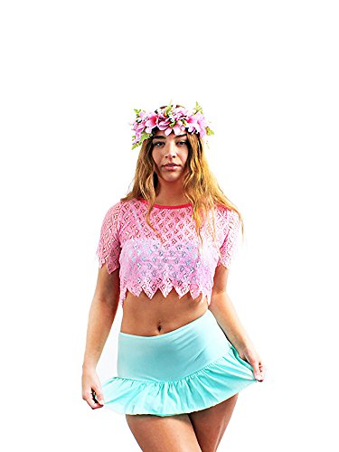 Hawaii Hangover Damen Mix und Match Bikini unten im Heiß Rosa Größe Medium (Damen Badeanzug Unten Mix)