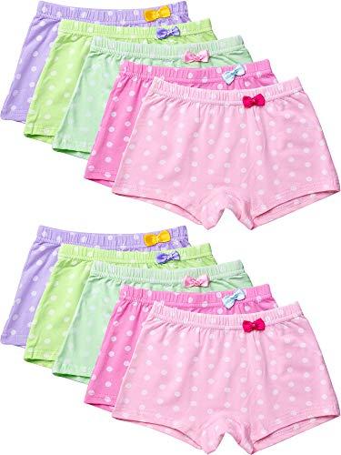 10 Stücke Mädchen Shorts Polka Dot Shorts Weiche Kleinkinder Unterwäsche Baumwoll Höschen für Mädchen (100 cm)