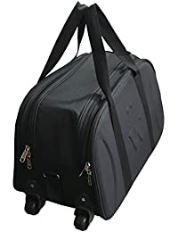 SEPAL Cabin Luggage Bag, Travel Duffle Trolley Bag With Wheels For Flight/ Journey - (Black)