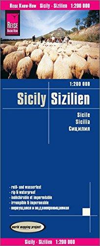 Sicilia, mapa impermeable de carreteras. Escala 1:200.000 impermeable. Reise Know-How. por VV.AA.