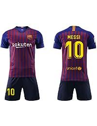 dfe60f6cf8 Daoseng Camiseta Jersey Futbol Barcelona 2018-2019 Traje de niños Manga  Corta + Pantalones Cortos