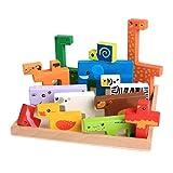 Valcano 3D Kinder Kinder Puzzle Tier Bausteine Match Game Pädagogisches Spielzeug Für Kleinkind Baby Geschenk