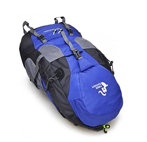 All'aperto Sport Zaino Viaggio Bagaglio Borsa L'arrampicata Il Sacchetto 50L Di Spalla Sacchetto,Green-OneSize Blue