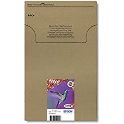 Encre d'origine EPSON Multipack Colibri T0807 : cartouches Noir, Cyan, Magenta, Jaune, Cyan clair, Magenta clair [Emballage « Déballer sans s'énerver par Amazon »] Amazon Dash Replenishment est prêt