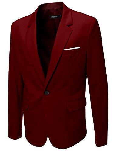 FLATSEVEN Giacche Blazer Slim Fit Casual Premium Uomo Vin