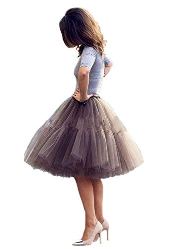 Babyonline-Damen-Tllrock-5-Lage-Prinzessin-Falten-Rock-Tutu-Organza-Petticoat-Ballettrock-Unterrock-Pettiskirt