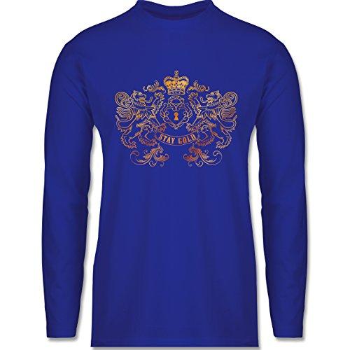 Rockabilly - Stay gold - Longsleeve / langärmeliges T-Shirt für Herren Royalblau
