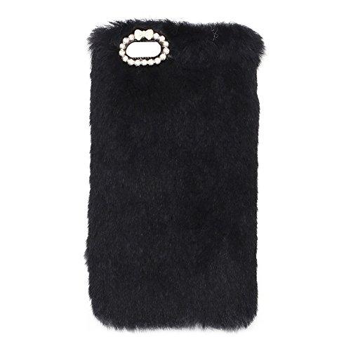 BING Für IPhone 6 Plus / 6s Plus, Faux Pelz PC Schutzhülle BING ( Color : Grey ) Black