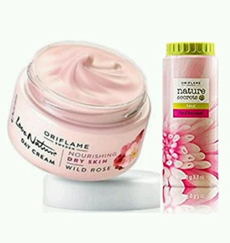oriflame Love nature Wild rose Day cream&floral bouquet talc 100g