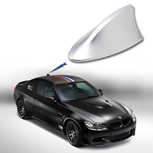 Antena tiburon color plata. Universal para coche. Antena AM FM