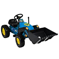 Children's Pedal-Powered Ride-On Digger Kids' Push Pull Excavator Tractor Toy