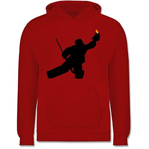 Sport Kind - Towart Eishockey Eishockeytorwart - 12-13 Jahre (152) - Rot - JH001K - Kinder Hoodie