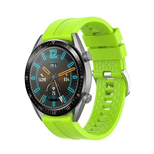 Upxiang für Huawei Watch GT/Watch GT Active 46mm/Honor Magic Armband Silikon Sportband Einfarbig Wrist Band Strap Ersetze Uhrenarmband
